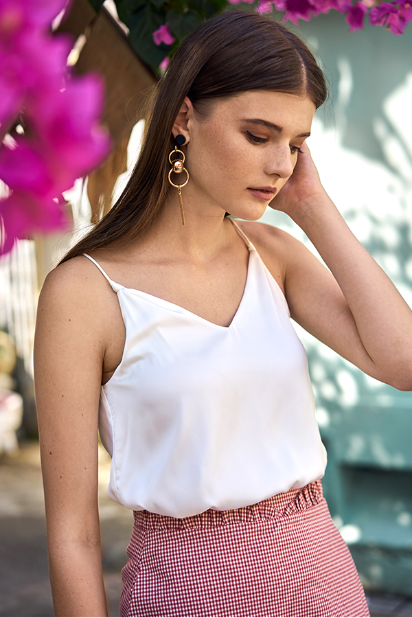 Tiana Knotted Top in White