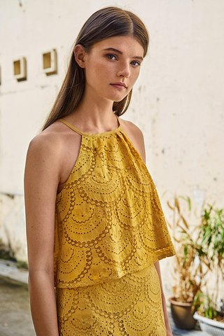 Genevia Lace Top in Marigold