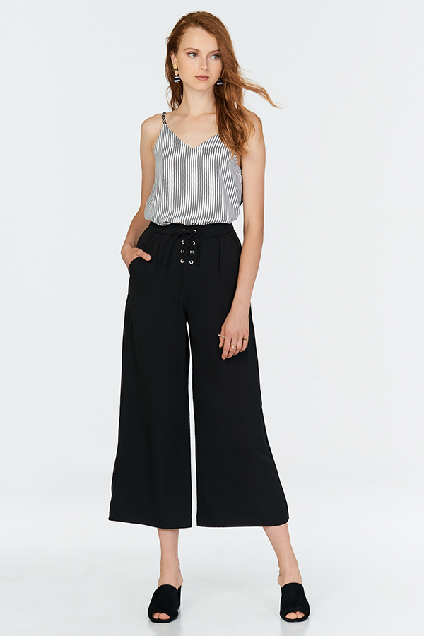 Kylene Wide Leg Pants in Black