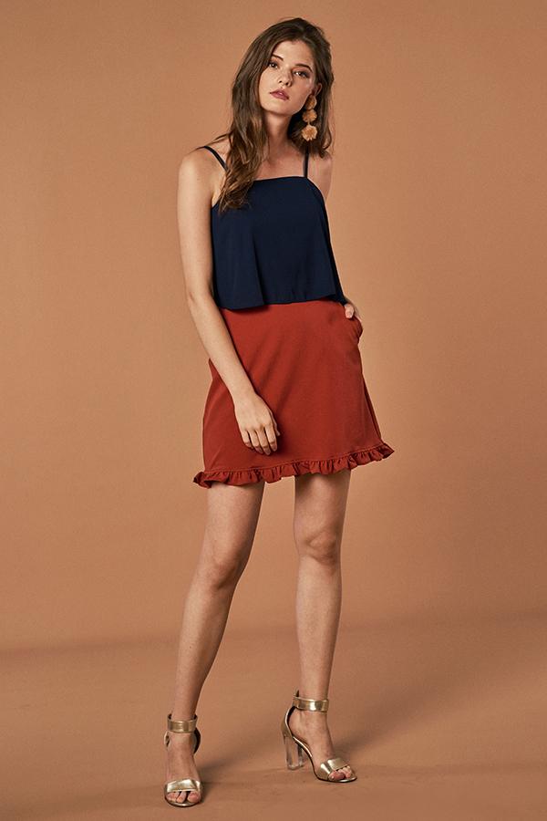 Calla Ruffle Hem Skirt