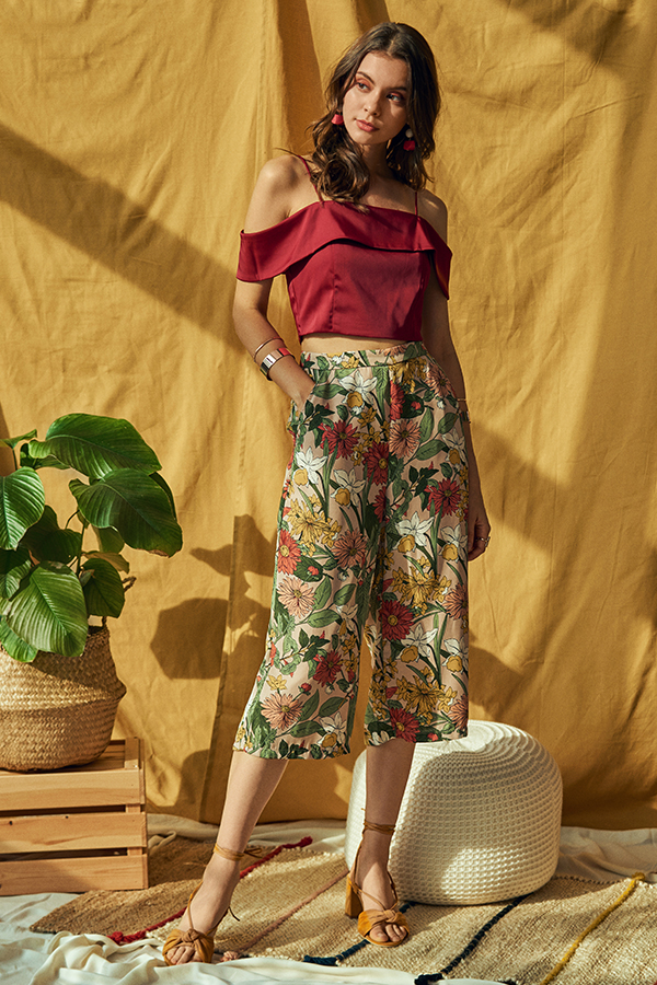 *Restock* Caylia Floral Printed Culottes