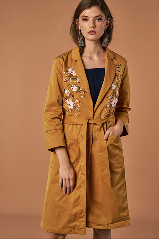 McKay Embroidered Longline Cardigan