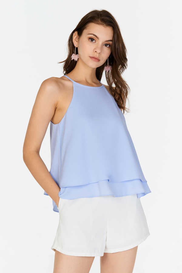 Dulcie Layered Top in Light Blue