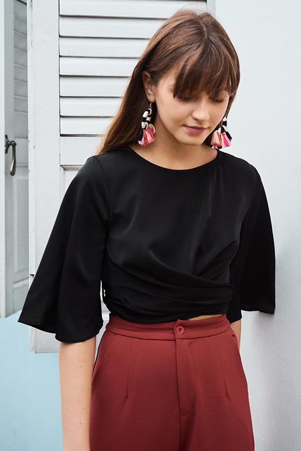 Danisa Sash Top in Black