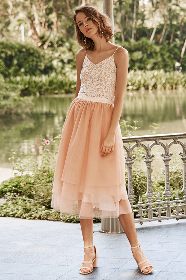 Haven Tulle Skirt in Pink