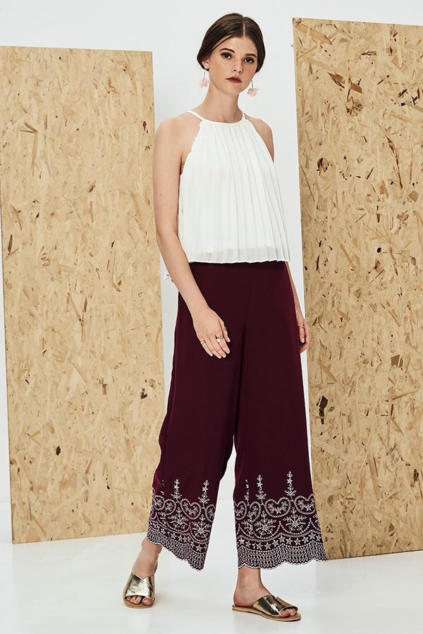 Enye Embroidered Pants