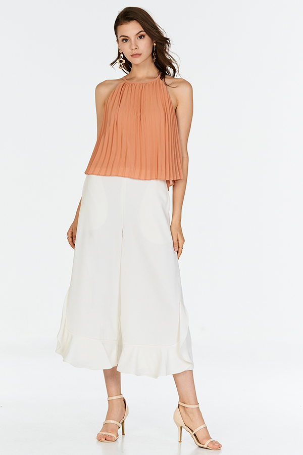 Valerie Pleated Top in Dusk Peach