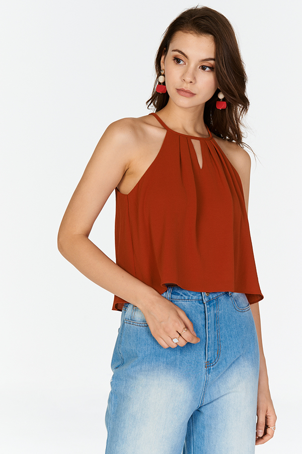 Eva Kinfolk Top in Rust