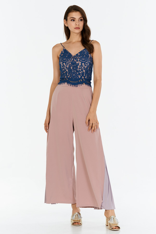 Janine Two Tone Lace Bralet in Periwinkle
