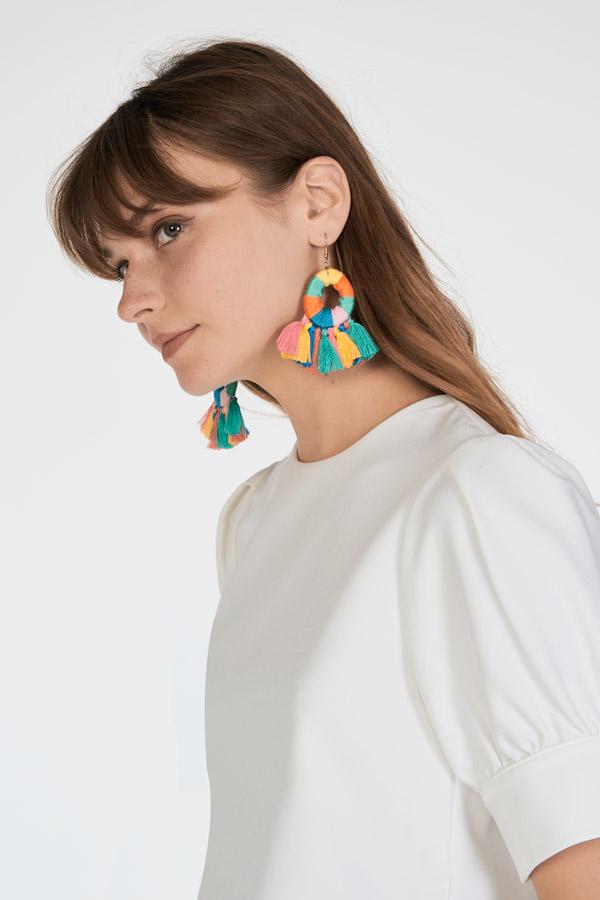 Hani Tassel Earrings in Rainbow