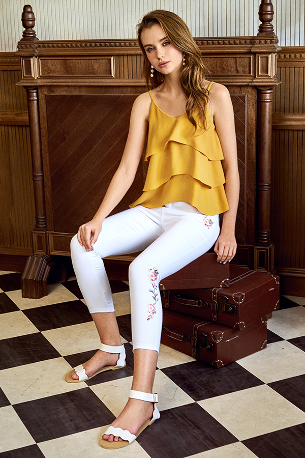 Courtney Layered Top in Marigold