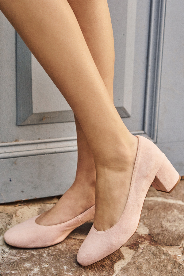 *Restock* Fond Block Heels in Light Pink