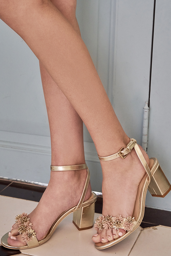 Ellis Heels in Gold