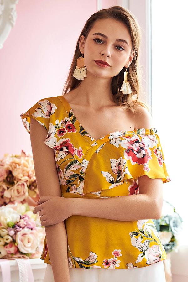 *Restock* Edina Floral Printed Peplum Top