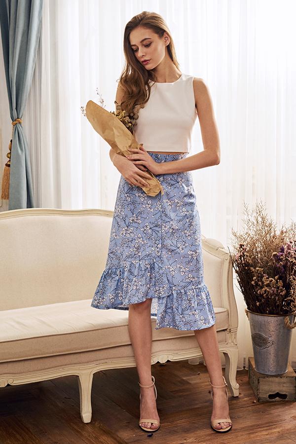 *Restock* Tiania Floral Ruffled Midi Skirt