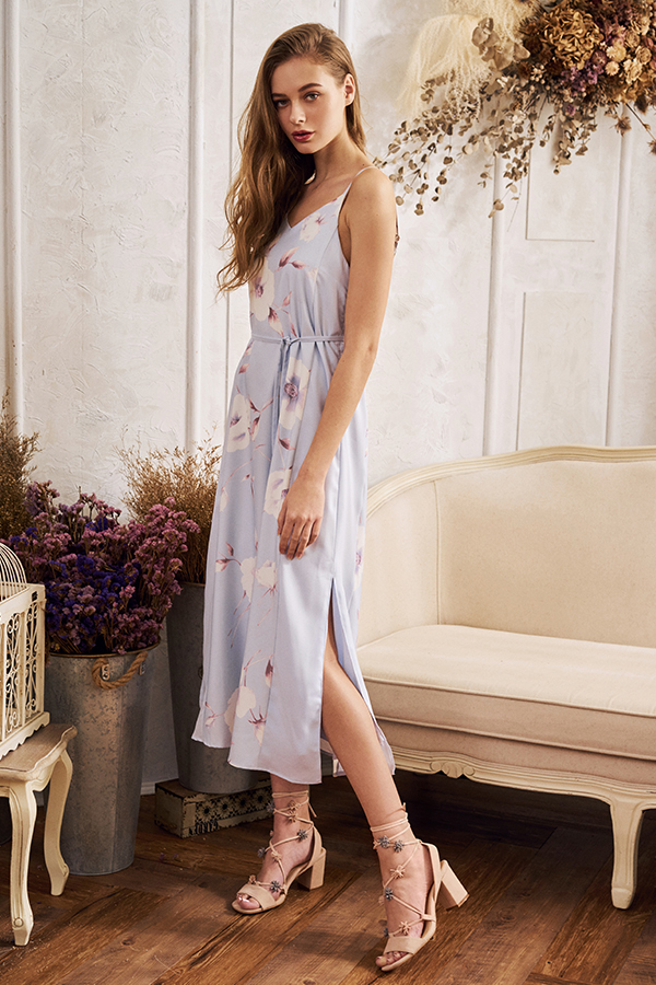 Vonia Floral Printed Maxi Dress