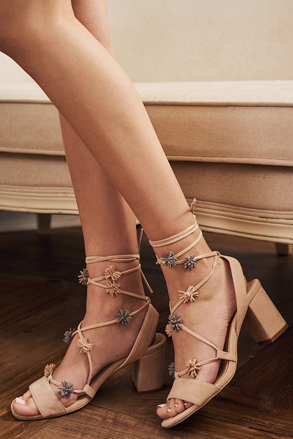 Kinley Laced Up Heels in Pink