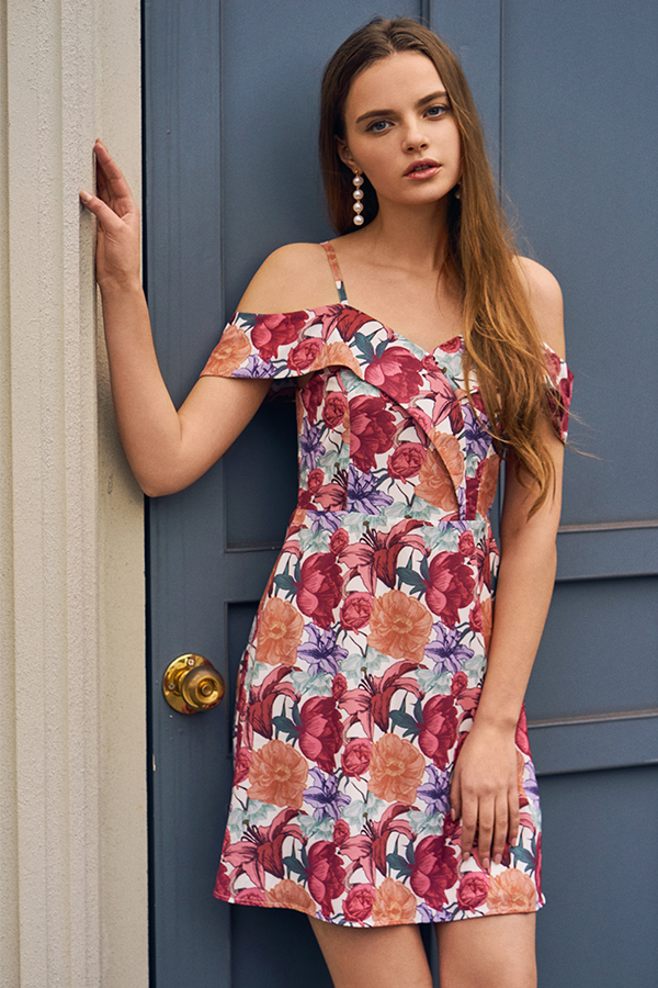 Lila Floral Printed Dress