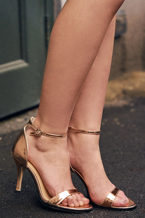Minimalist Heels in Rose Gold