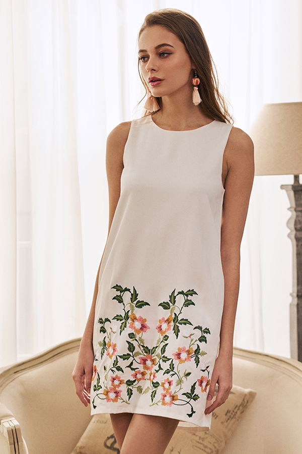 Hannia Embroidered Shift Dress