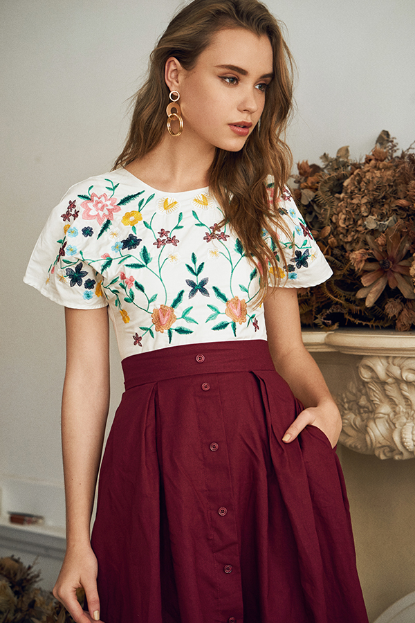 *Restock* Carel Embroidered Top