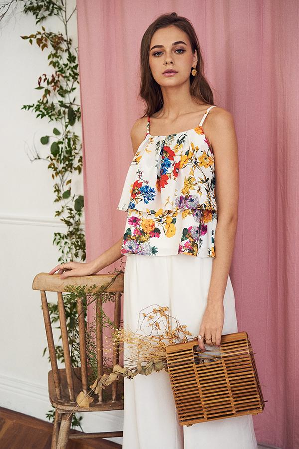 Soria Floral Printed Top