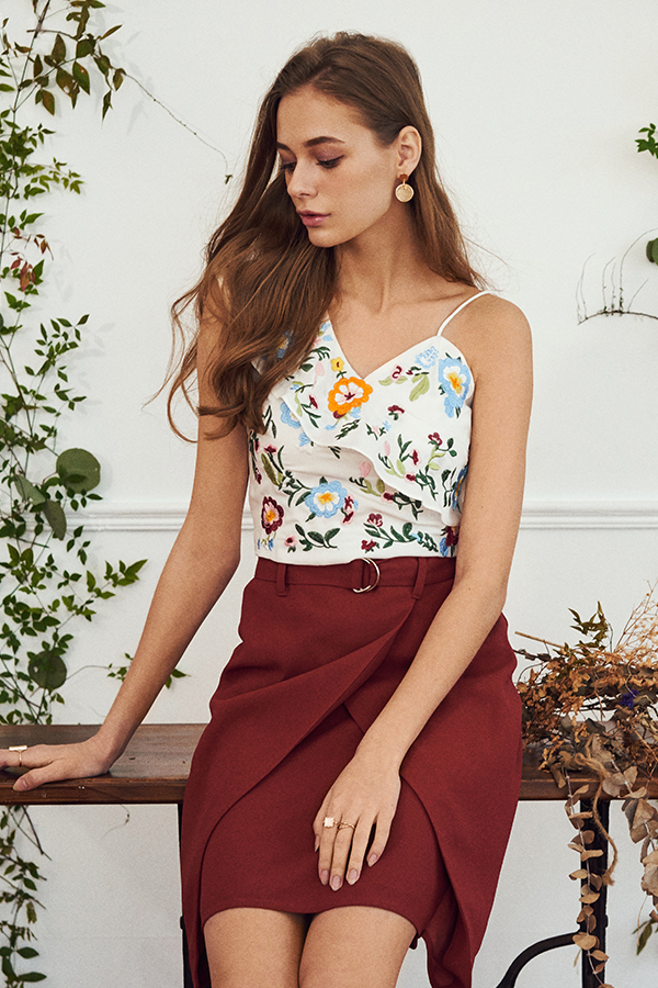 Yara Embroidered Top