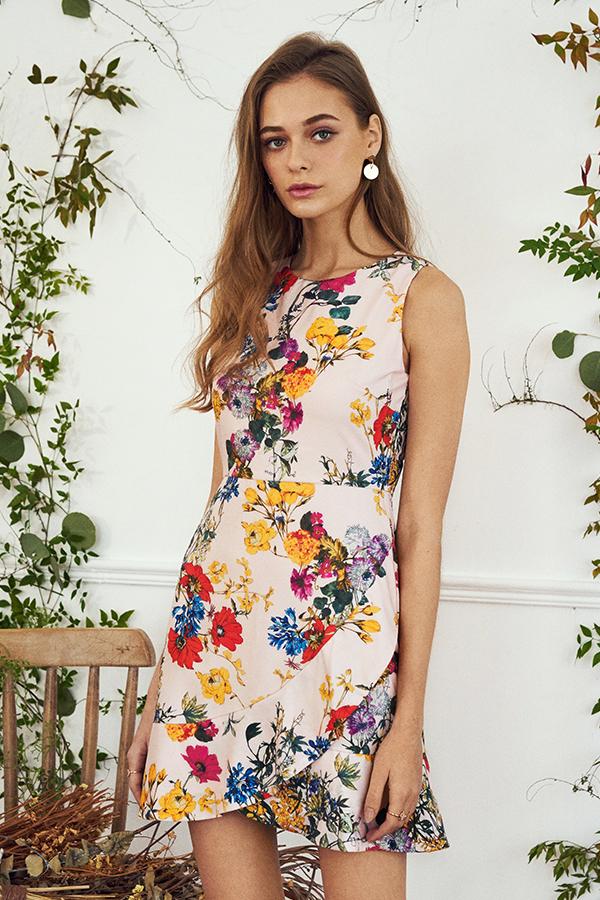 Soria Floral Printed Dress