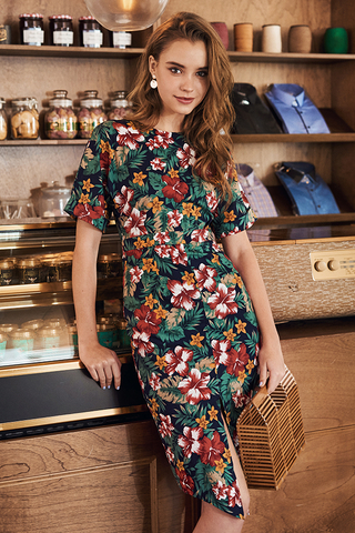 *Restock* Chijmes Floral Midi Dress