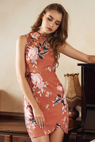Florence Floral Printed Qipao