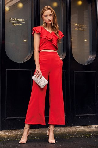 Caine Pants in Red
