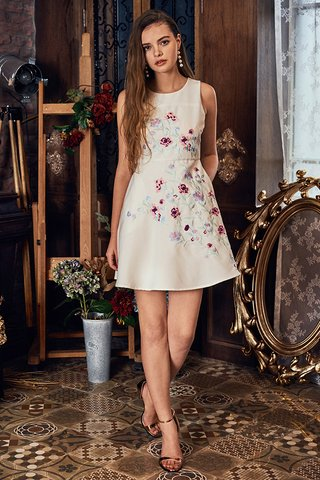 Lilay Embroidered Dress in White