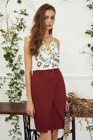 Alessia Skirt in Terra Cotta