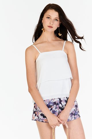 Emelia Layered Top in White