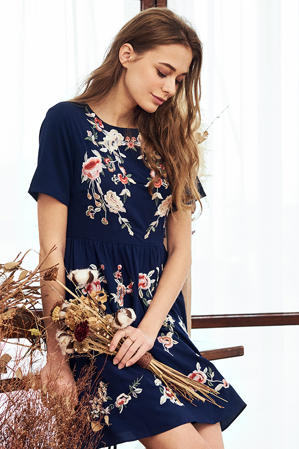 Kenna Embroidered Dress