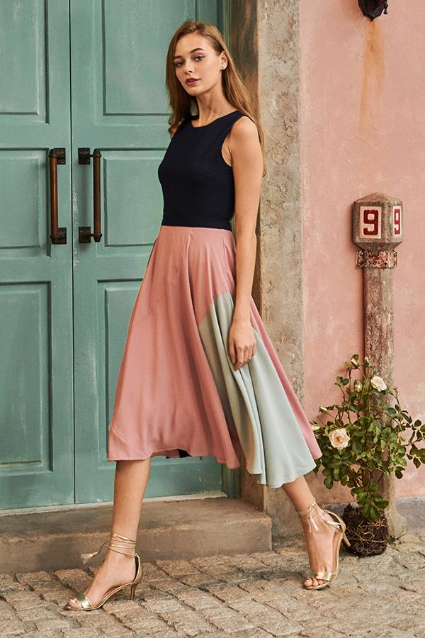 Gile Colourblock Midi Dress