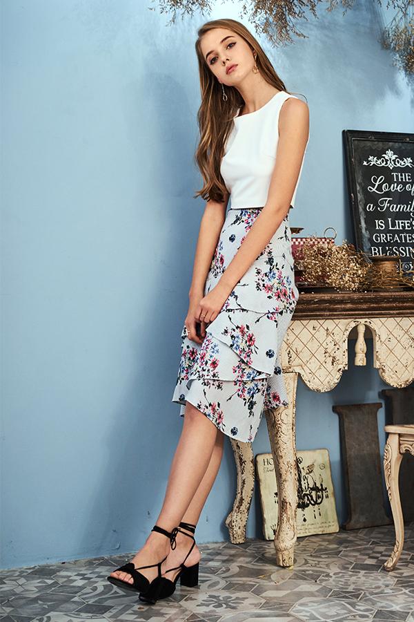 Lonn Ruffles Midi Skirt