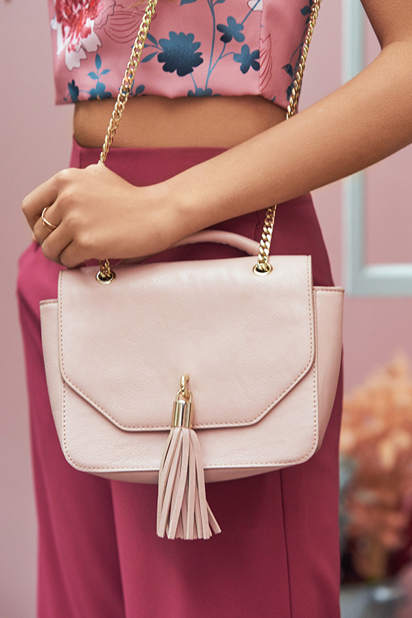 Nashi Tassel Bag in Pink
