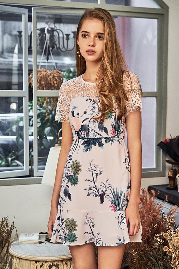 Esrelle Floral Dropwaist Dress