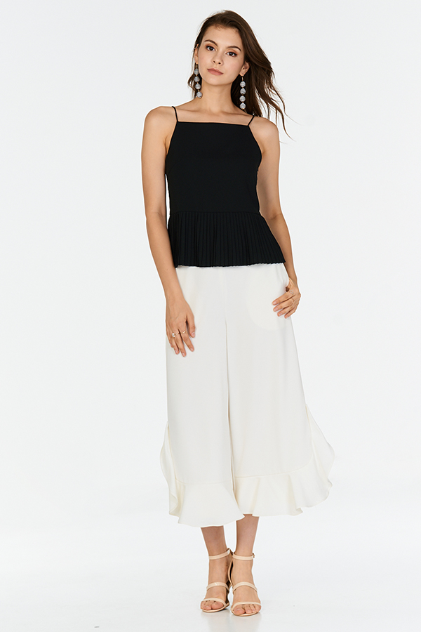 Frun Pleated Top in Black