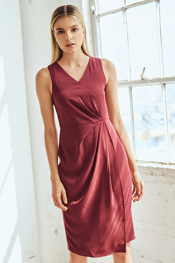 *W. By TCL* Heyden Dress in Wine