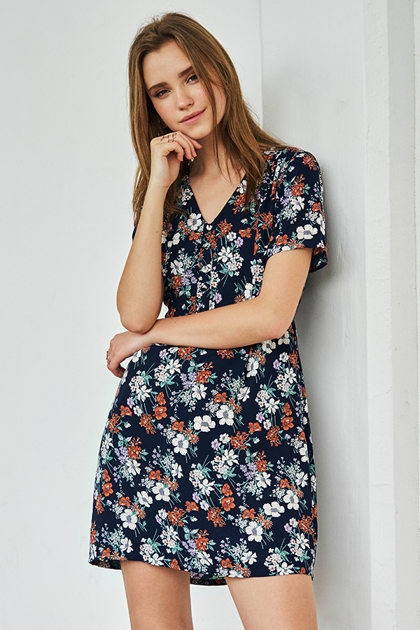 Camila Floral Printed Dress
