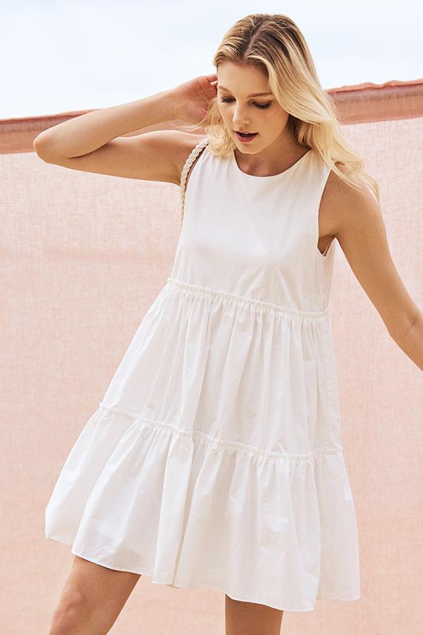 *Restock* Lorene Dress in White (XL)