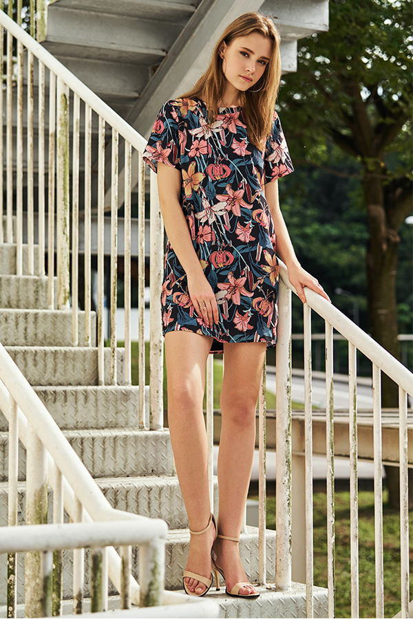 *Backorder* Luciana Floral Printed Dress