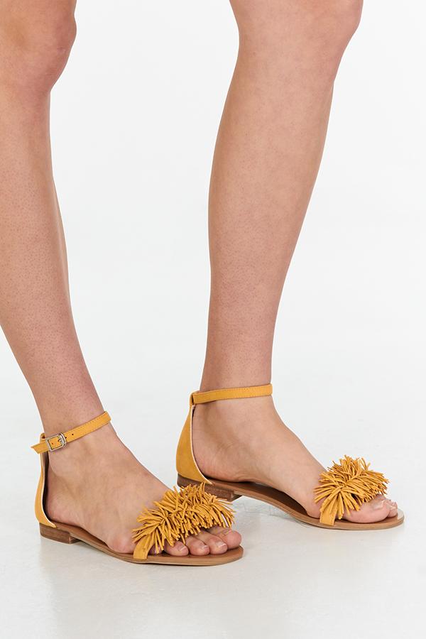 Kalina Sandals in Mustard