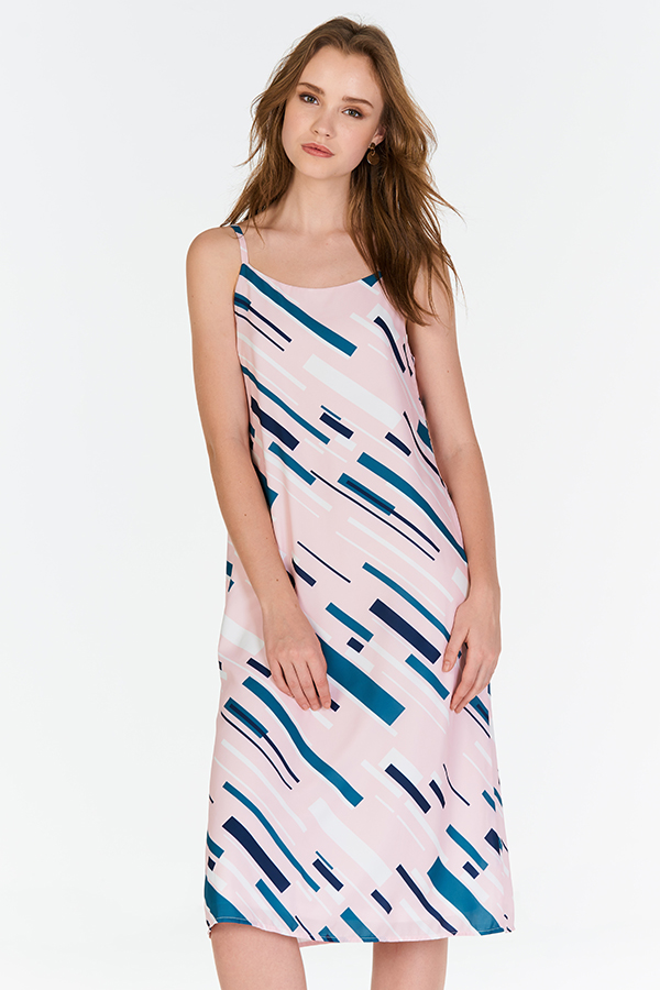 Monet Two Way Abstract Printed Midi Dress (L)