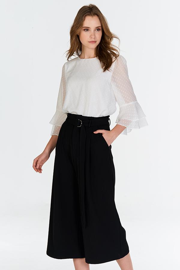 Novitta Belted Culottes in Black