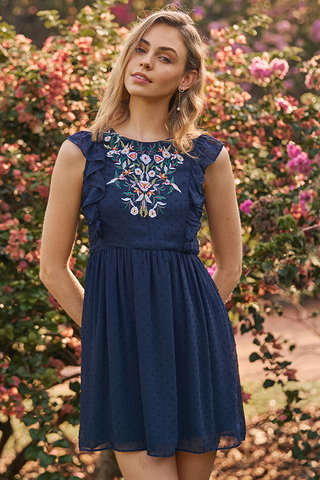 Emely Embroidered Dress