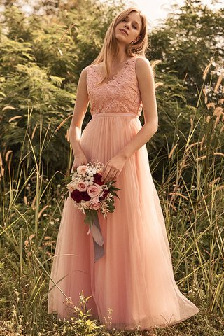 Ellen Pleated Tulle Maxi Dress in Pink