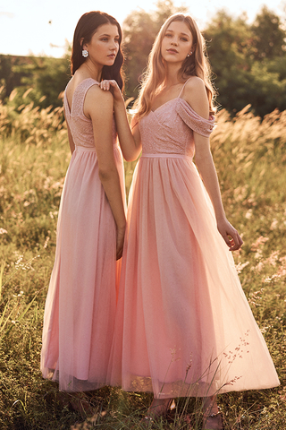 Amor Cold Shoulder Maxi Dress in Pink